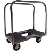 "Snap-Loc™ Air-Ride Panel Cart Dolly SL1500PC6AB - 6"" Casters - 1500 Lb. Cap. -  Black"