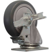 """Snap-Loc™ Caster for Snap-Loc Dolly SLAC4SB -  Swivel Brake 4"""" Casters"""