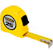 "Stanley 30-454 1"" x 25' Fractional High-Vis High Impact ABS Case Tape Rule"