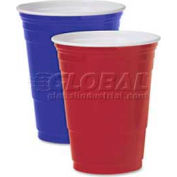 SOLO® Plastic Party Cold Cups, Polystyrene, 16 Oz., 1,000/Carton, Blue