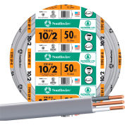 Southwire 13056722 Uf-B Underground Feeder Cable, 10/2 Awg, 50 Ft - Pkg Qty 3