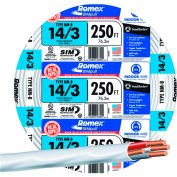 Southwire 63946855 Romex SIMpull ® Cable with Ground, White, 14/3 Awg, 250 ft