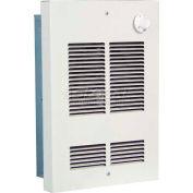 Radiateur forcé mural / ventilateur de plafond peu profond avec thermostat à double pôle intégré, 1500 watt, 120V
