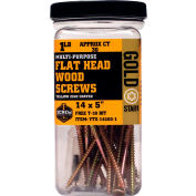 "#14 Gold Star YTX-14800-5 Extra Long Star Drive Wood Screws, 8""L, 5lb. Carton - Made In USA"
