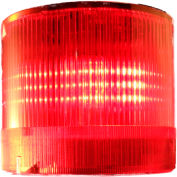 Springer Controls / Texelco LA-12-15 70mm Stack Light, Steady, 120V AC/DC BULB - Red