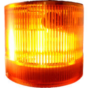 Springer Controls / Texelco LA-33-24 70mm Stack Light, Strobe, 24V AC/DC Xenon BULB - Amber