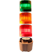 Springer Controls / Texelco LA-TCL03SF532 70mm Complete Light Stack, 120V LED, GRAY Term, G-A-R