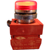 Springer Controls N5CLRD-120, Pilot Light - Red - 120V Bulb with Power Supply AC/DC