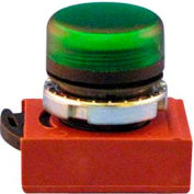 Springer Controls N5XLVD, 22 mm Pilot Light Operator, black bezel, green poly lens.