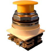 Springer Controls N7ET3G02, 30 mm Mushroom-Head, 2 Normally Closed, Push-Pull Maintained, Yellow
