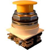 Springer contrôle N7ET3G02, champignon-tête de 30 mm, 2 normalement fermé, push-pull maintenu, jaune