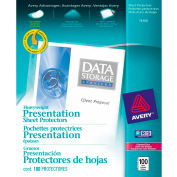 "Avery® Diamond Clear Heavyweight protège-feuilles, 8-1/2"" W x 11"" H, claire, 100/PK"