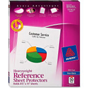 """Avery® Top chargement feuille protectrice, 8-1/2"""" W x 11"""" H, anti-reflets, 50/PK"""