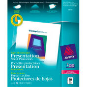 """Avery® Diamond Clear Top Loading Sheet Protector, Super Heavy Weight, 8-1/2""""W x 11""""H, 50/PK"""