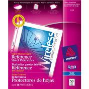 "Avery® Super Heavyweight référence protège-feuilles, 8-1/2"" W x 11"" H, anti-reflets, 50/PK"