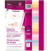 """Avery® Protect 'n Tab Top Loading Sheet Protector, 8-1/2""""W x 11""""H, Clear, 8 Tabs/Set"""