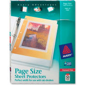 "Avery® 3 Hole Punched Heavyweight Sheet Protector, 8-1/2""W x 11""H, Clear, 50/PK"