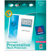 "Avery® Diamond Clear Top Loading Sheet Protector, 8-1/2""W x 11""H, Clear, 200/PK"