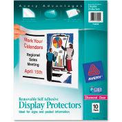 """Avery® amovible auto adhésif écran protecteur, 8-1/2"""" W x 11"""" H, claire, 10/PK"""