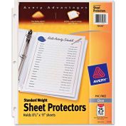 "Avery® Standard Weight Sheet Protector, 8-1/2""W x 11""H, Clear, 25/PK"