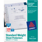 "Avery® Non-Stick Sheet Protector, 8-1/2""W x 11""H, Clear, 100/PK"