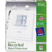 """Avery® Recycled Economy Weight Sheet Protector, 8-1/2""""W x 11""""H, Clear, 100/PK"""