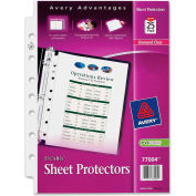 "Avery® Sheet Protector, 5-1/2""W x 8-1/2""H, Clear, 25/PK"