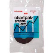 """Chartpak® Chart Tape, BG1251M, Matte, .13""""W X 27'L, Matte/Black"""