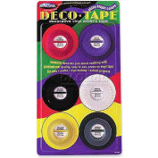 "Chartpak® Decorative Tape, DEC001, .13""W X 27'L, Assorted"