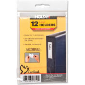 """Cardinal® HOLDit! Label Holders, 1""""W x 3""""H, Clear, 12/PK"""
