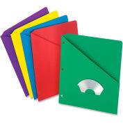 "Pendaflex Essentials Slash Pocket Folder, 8-1/2""W x 11""H, Multi, 25/PK"