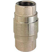 """2"""" FNPT Nickel-Plated Brass Check Valve with Stainless Steel Poppet"""