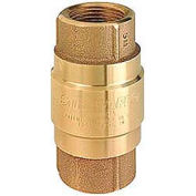"""2-1/2"""" FNPT No-Lead Brass Check Valve with Buna-S Rubber Poppet"""