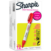 Sharpie® Paint Marker, Oil Based, Medium, Red Ink - Pkg Qty 12
