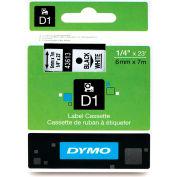 """DYMO® D1 étiquettes Standard 1/4"""" noir sur blanc"""