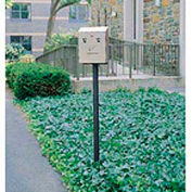 """In Ground Mounting Pole For Smokers Station, Black, 2""""Dia x 69""""H"""