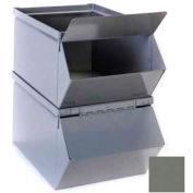"""Stackbin® trémie amovible couvercle avant pour 5-1/2"""" W x 12 H «x 4-1/2 D» acier gris d'emplacements"""