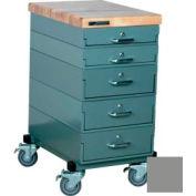 Stackbin Workbench, Mobile Workbench 16 x 24 x 33 Maple Top - Gray