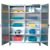 Strong Hold® Independent Locking Cabinet 36-DS-248SS - Stainless Steel Double Door 36 x 24 x 78