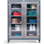 Strong Hold® Heavy Duty Clearview Model 45-LD-243SS - Stainless Steel 48 x 24 x 66