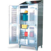 Strong Hold® Heavy Duty Cabinet 46-V-244SS - Stainless Steel with Ventilated Doors 48 x 24 x 78