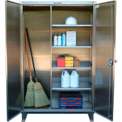 Strong Hold® Heavy Duty Closet Cabinet 66-BC-244-SS - Stainless Steel 72 x 24 x 78