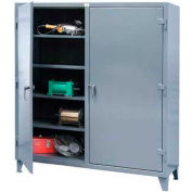 Strong Hold® Independent Locking Cabinet 66-DS-248 - Double Door 72 x 24 x 78