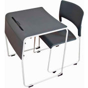 Luxor Lightweight Stackable Student Desk and Chair - 4 Pack