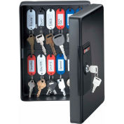 "SentrySafe 25 Key Capacity, Key Box, Key Lock, 7-7/16""W x 3-7/16""D x 9-13/16""H, Black"