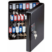 "SentrySafe 50 Key Capacity KB-50 Key Box, Key Lock, 9-7/16""W x 3-15/16""D x 11-13/16""H, Black"