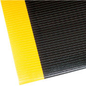 "NoTrax Razorback 1/2"" Thick Safety-Anti-Fatigue Floor Mat, 2' x 6' Black/Yellow"