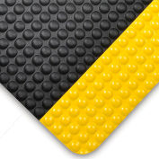 """NoTrax® Bubble Trax™ Anti Fatigue Mat 1/2"""" Thick 3' x Up to 60' Black/Yellow Border"""