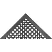 "Akro Beveled Drain Step Classic 1/2"" Anti-Fatigue/Anti-Slip Thick Floor Mat, 3' x 5' Black"
