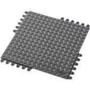 "NoTrax® De-Flex™ Anti-Fatigue Modular Mat Tile, 3/4"" Thick, 18""x18"", Black, Each"
